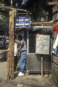 Mumbai, India street scene.