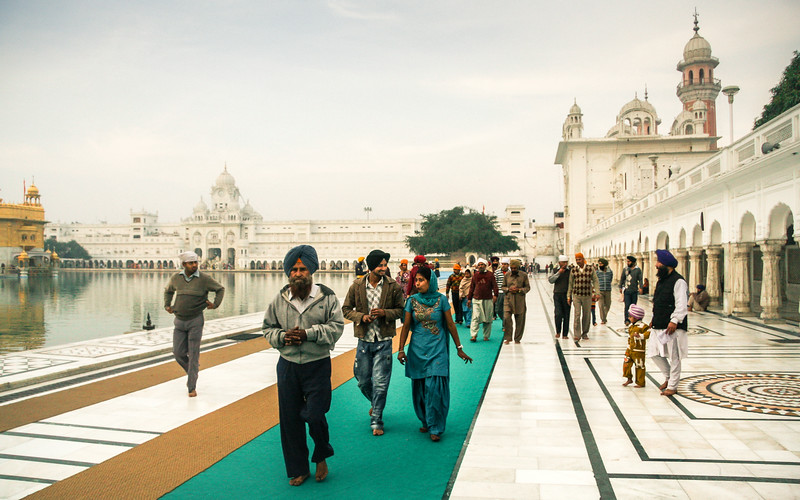 Crowd in the Golden Temple Grounds