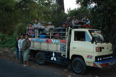 Truck o' boys, outside Denpasar, Bali, Indonesia.