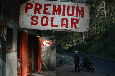 Shop in Penelokan village near volcanic Lake Batur, Bali, Indonesia.