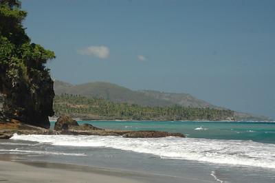 The beach near Candidasa town, Bali, Indonesia.