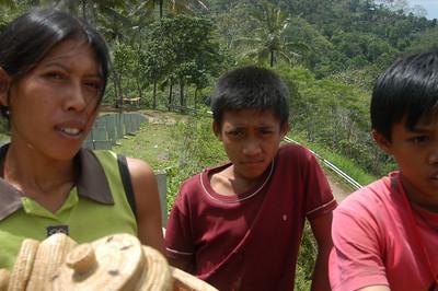 Family, rural northeastern Bali, Indonesia.