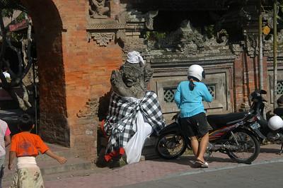Street scene in Ubud, Bali, Indonesia.