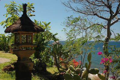 Garden on the north coast of Bali, Indonesia.