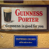Signs in a pub, Dublin, Ireland.