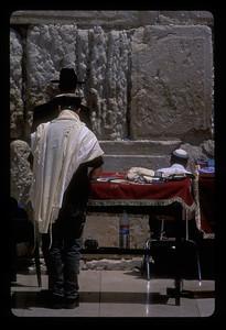Prayer at the Western Wall, Jerusalem.