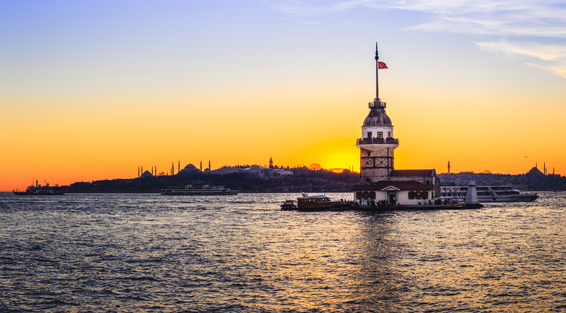 Maiden's Tower in Istanbul Turkey.