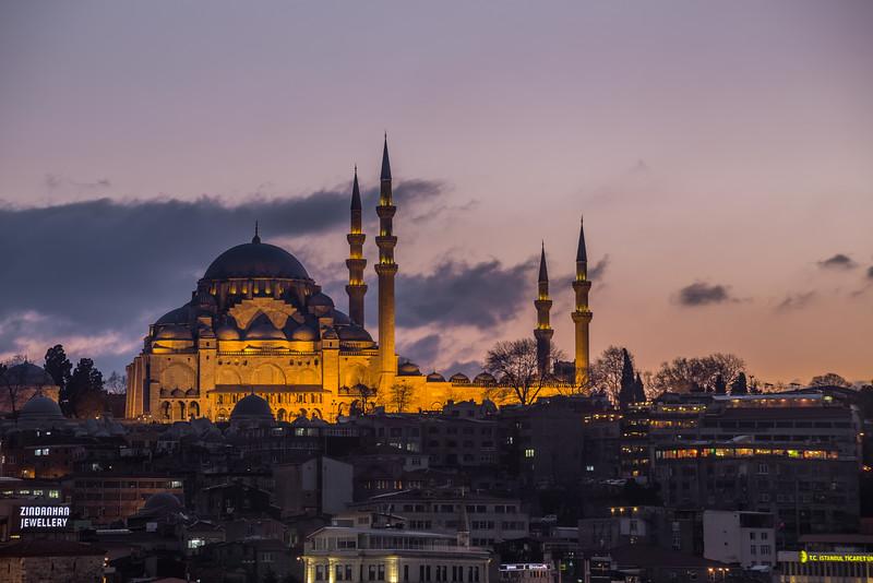 Süleymaniye Mosque in Istanbul Turkey.