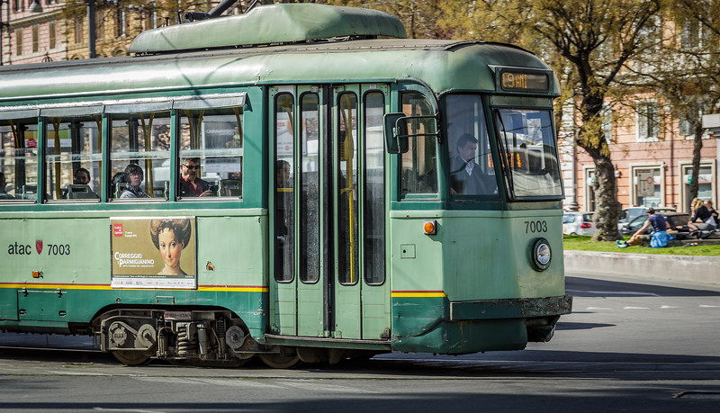 Trolly in Rome, Italy.