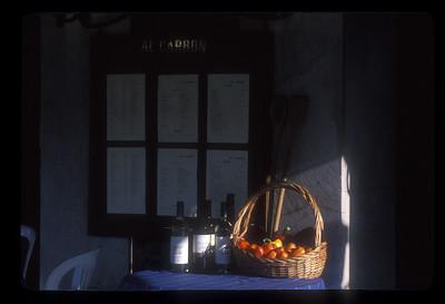 Still life at restaurant, Sicily, Italy.