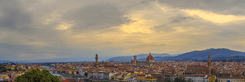 Looking at Florence from Michelangelo Hill.