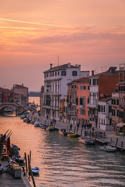 Sunset from our apartment in Venice.