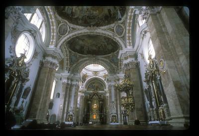 Interior of the Duomo di Milano, Milan, Italy.