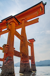 The torii gate at Miyajima, Japan