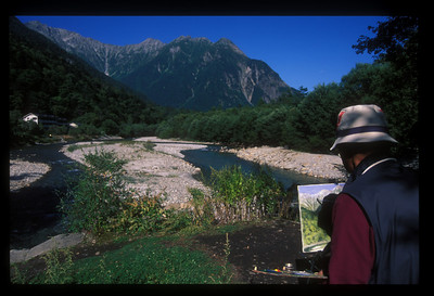 Painter, Nagano Prefecture, Japan.
