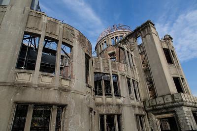 The Hiroshima peace memorial