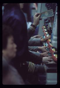 Gambling, Tokyo, Japan.