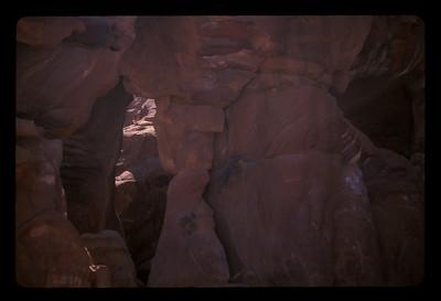 Rocks along the road to the ancient ruins of Petra, Jordan.