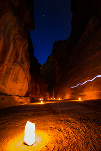 Lighting The Path, Petra, Jordan