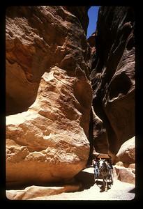 The road to Petra, Jordan.