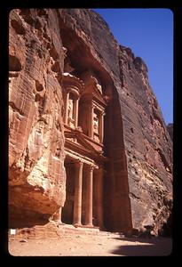 The Treasury building, ancient ruins of Petra, Jordan.