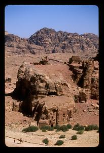Desert around the ancient ruins of Petra, Jordan.