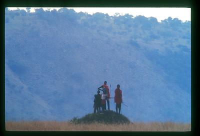 Masaai hunters, Kenya.