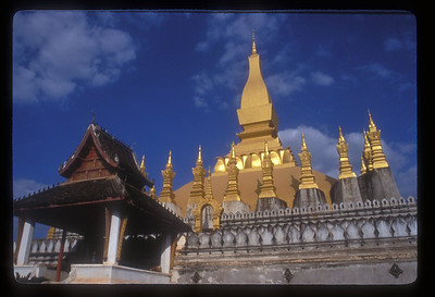 Wat That Luang, Vientaine, Laos.