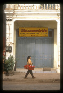 Street scene, Vientaine, Laos.