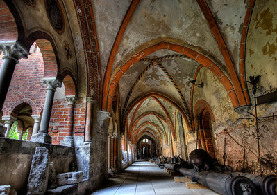 HDR: Underneath the Riga Cathedral, Riga, Latvia.