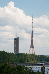 Television tower, Riga, Latvia.