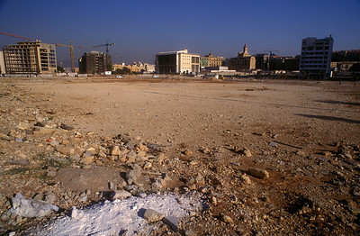 Reconstruction of the Green Zone, Beirut, Lebanon, 1999.