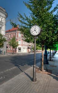 Downtown Vilnius, Lithuania.