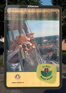 Advertisement, Vilnius, Lithuania.