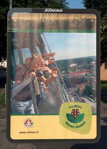 Advertisement, Vilnius, Lithuania.