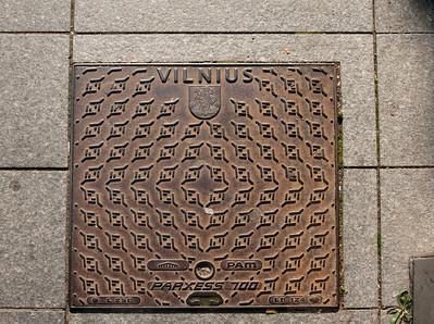 Sidewalk, Vilnius, Lithuania.