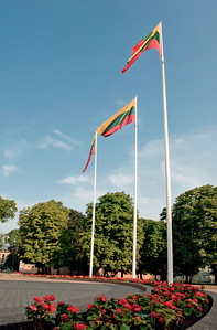 Flags at the Lithuanian Presidency Building, Vilnius.