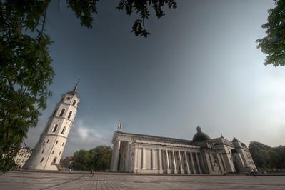 HDR: Roman Catholic Cathedral, Vilnius, Lithuania.