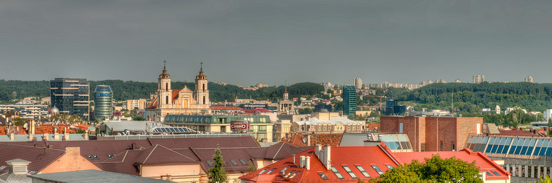 HDR: Rooftops of Vilnius, Lithuania.