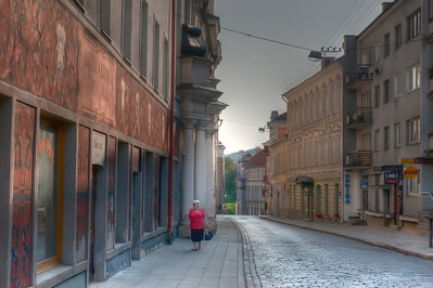 HDR: Out for a stroll in old town Vilnius, Lithuania.