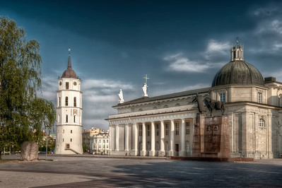 HDR: Roman Catholic Cathedral, Vilnius, Lithuania.
