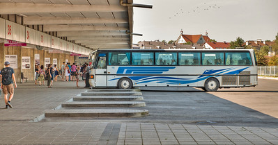 Vilnius, Lithuania bus station.