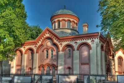 HDR: Saint Paraskeva Orthodox Church, Vilnius, Lithuania.