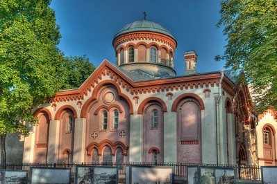 HDR: Saint Paraskeva Orthodox Church, Vilnius, Lithuania.