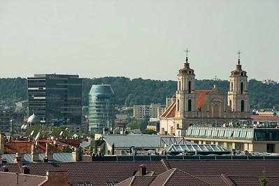 Vilnius, Lithuania rooftops.