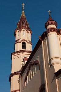Church spire, Vilnius, Lithuania.