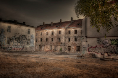 HDR: Not the best part of Vilnius, Lithuania.