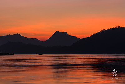 Sunset on the Mekong
