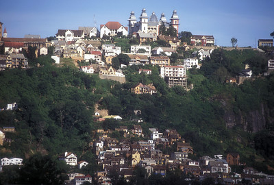 The Queen's Palace on the hill top, Antananarivo, Madagascar.