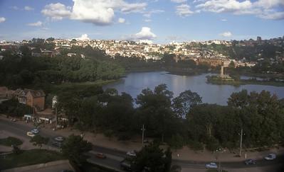 Lake Anosy and Antananarivo, Madagascar.